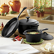 Cast Iron 5 Piece Set Pre Seasoned