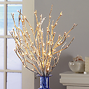 Willow Sticks Silver Glitter