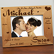 Mr and Mrs Wedding Laser Frame