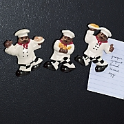 Magnets Chefs Ceramic 3 Piece Set