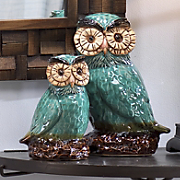 Owls Reactive Glaced Ceramic