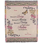 Sister Personalized Throw