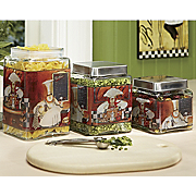 Canisters French Chef 3 Piece Set