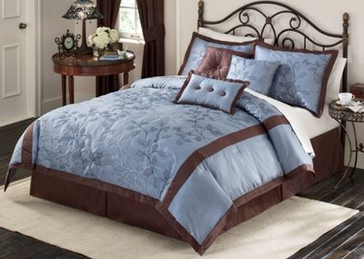 Ruby Falls Embroidered Bedding Set and Window Treatments
