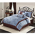 7 Piece Ruby Falls Embroidered Bedding Set