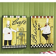 Set Of 2 Chef Plaques