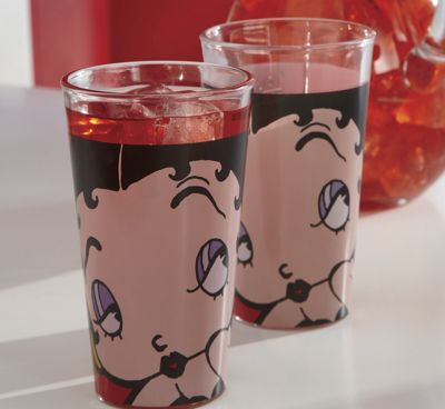 Set Of 4 Betty Boop Glasses
