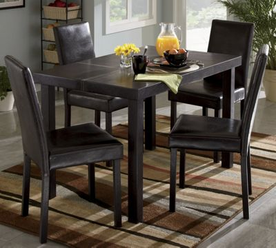 Contrast Stitch Dining Table and Chairs