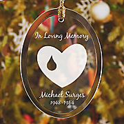 In Loving Memory Jade Glass Ornament