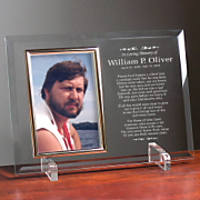 In Loving Memory Beveled Glass Frame