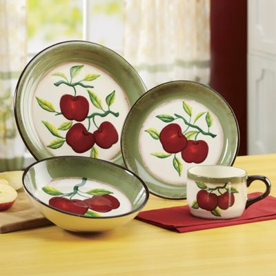 16 Piece Apple On Branch Dinnerware