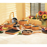 13 Piece Orange Marble Aluminum Cookware