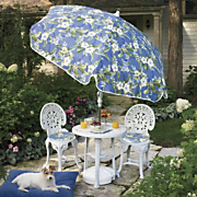 3 Piece Crown Bistro Set and Tilting Garden Umbrella