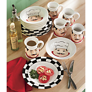 12 Piece Ceramic Chef Dinnerware Set