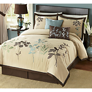Embroidered Silhouette Comforter Set