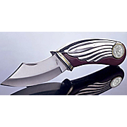 Silver Barber Dime Pocket Knife