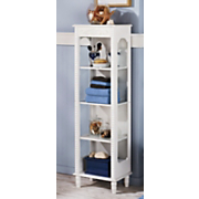 white scroll tall shelf