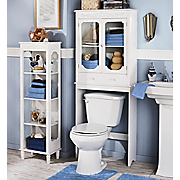 white scroll bathroom furniture