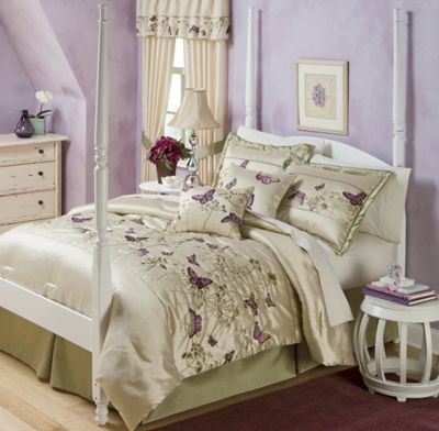 Butterfly Comforter Set and Window Treatments