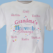 Grandmas Heavenly Blessings T Shirt