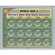 World War Ii Silver Mercury Dime Collection