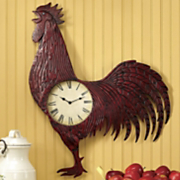 Clock Red Rooster