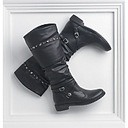Stud Trim Biker Boot By Seventh Avenue