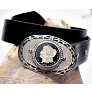 Morgan Silver Dollar Belt Buckle