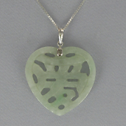 Jade Chinese Symbol for Love Pendant