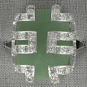 Jade Chinese Symbol Ring