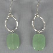 Jade Nugget Earrings