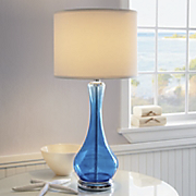 Lamp Blue Glass Table
