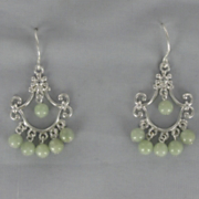 Jade Chandelier Earrings