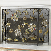 Fireplace Screen Flowering