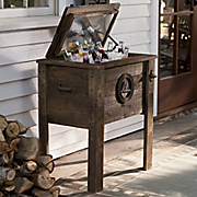 wooden rustic coolers