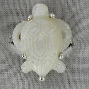 Mother of Pearl Turtle Ring