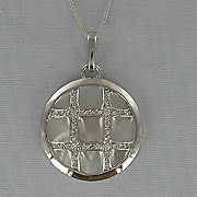 Mother of pearl Crisscross Pendant