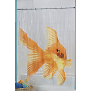 Shower Curtain Goldzilla