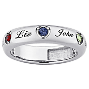 Ring Heart Family Birthstones