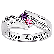 Ring Couples Birthstone Round