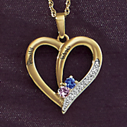 Pendant Couples Name Heart Pendant
