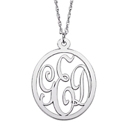 Pendant Monogram Cut out