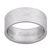 Ring Mens Barbwire Personalized
