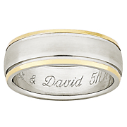 Ring Mens Personalized Titanium