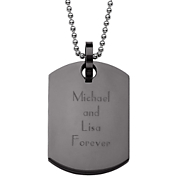 Pendant Black Personalized Dog Tag