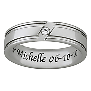 Ring Mens Personalized Cubic Zirconia
