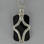 Onyx Rectangle Abstract Pendant