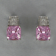 Pink Cubic Zirconia Earrings