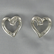 Cubic Zircona Heart Earrings