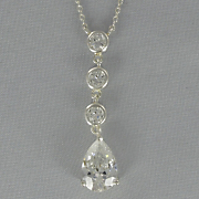 Cubic Zirconia Pear Drop Pendant